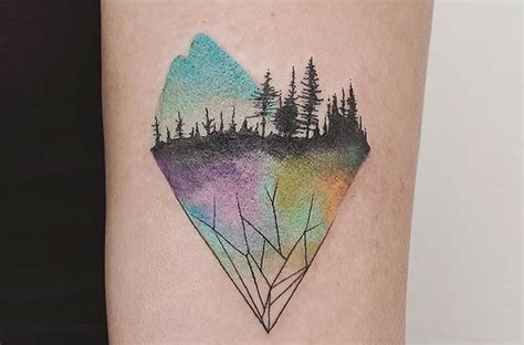 estos tatuajes mezclan geometr 237 a y naturaleza de forma