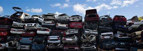 Car Dump Yards by Wrecking Junk Cars Vehicle Disposal Or Dump Eco Friendly