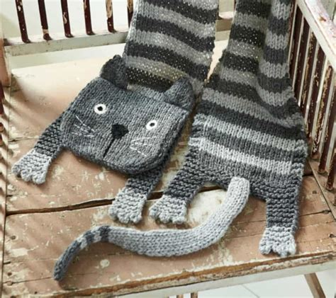knitting pattern cat scarf knitted cat scarf pattern free video tutorial