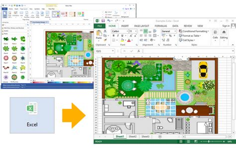landscape layout in excel create garden design for excel