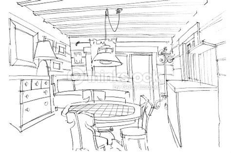 livre de cuisine v馮騁arienne zeichnen auf eine moderne k 252 che interior stock