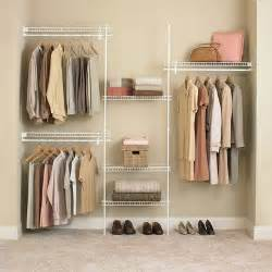 White Wire Closet Systems Closetmaid Superslide Closet Organizer Kit White
