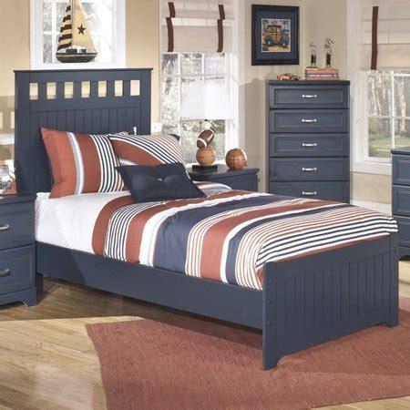 ashley leo wood twin panel bed  blue walmartcom