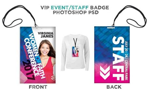 conference id card template 183 best images about conference badges on