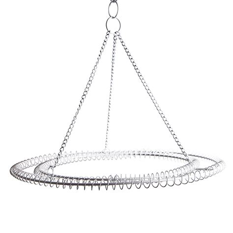 Large 2 Ring Round Chandelier Frame White Finish Chandelier Frame