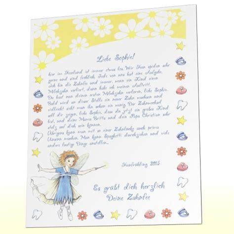 zahnfee brief vorlage word kinderbrief ein pers 246 nlicher brief der zahnfee