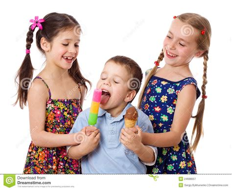 soap two girls and one boy two and boy with stock image image 24688057