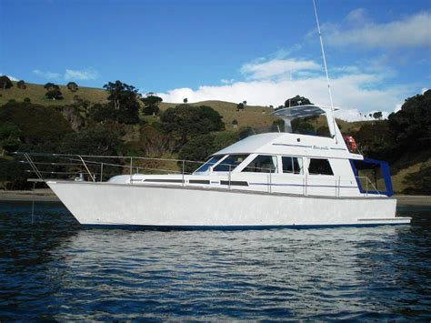 fishing boats for hire nz barcarolle charter boat auckland marine directory new