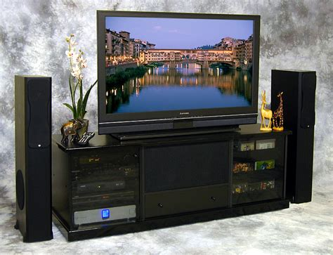 home theater munary system credenza lcd tv stand dvd