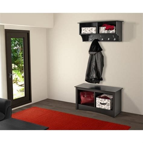 Hanging Entryway Shelf by 36 Quot Wide Hanging Entryway Shelf In Black Bec 3616