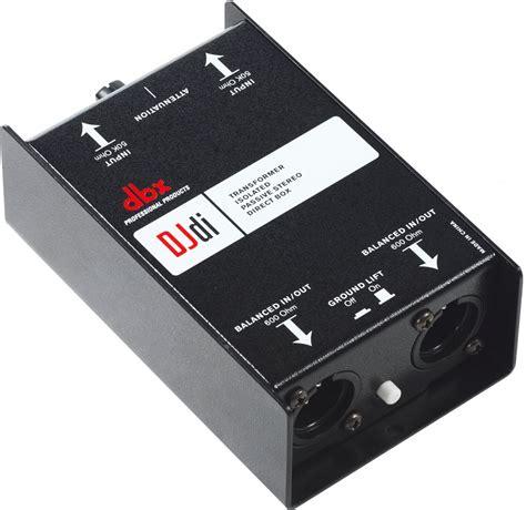 Dbx Tool dbx djdi passive 2 kanal stereo di box f 252 r dj s audio tool