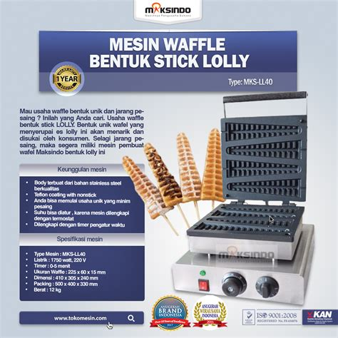 Teflon Di Jogja jual mesin waffle bentuk stick lolly ll40 di yogyakarta