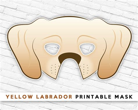 printable puppy mask yellow labrador mask tan dog mask printable halloween mask