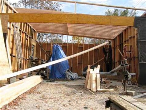 Barn Style Garage by Garage Build Slant Roof Rafter Instalation Part 1 Youtube