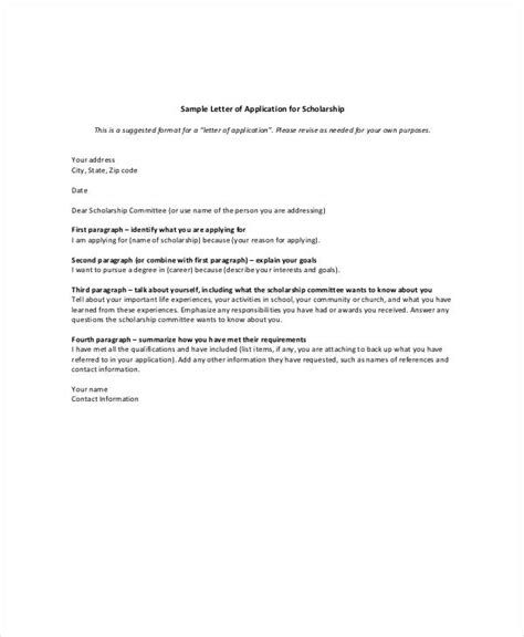 Scholarship Business Letter Exle academic letter of application 28 images academic