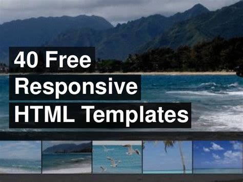 free responsive html templates 40 free responsive html templates