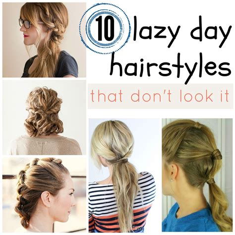 easy lazy hairstyles for school lazy day hairstyles immodell net
