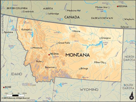 montana in usa map montana map usa toursmaps