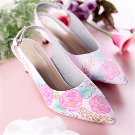 Sepatu Sendal Strp Pink sepatu sandal slingback blossom pink