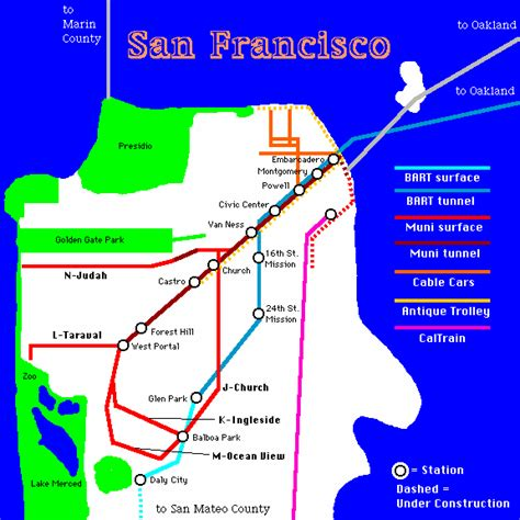 san francisco muni map municipal railway earthquake operations