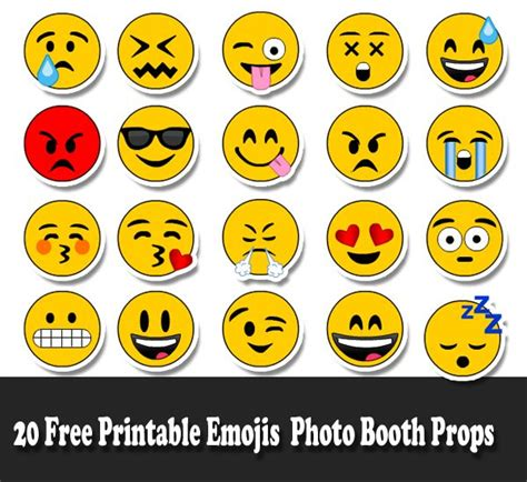 printable apple emojis 20 free printable emojis photo booth props emoji