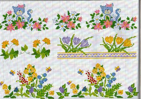 punto croce fiori piccoli bordure fiori co farfalle magiedifilo it punto croce