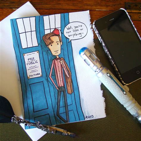 Dr Who Birthday Card Doctor Who Birthday Card Eleventh Doctor Not By Amysnotdeadyet