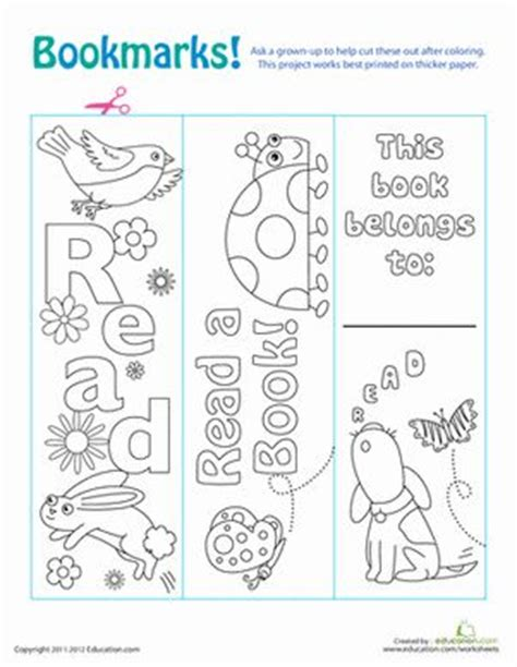 printable color your own bookmarks color your own bookmarks paper colors and crafts