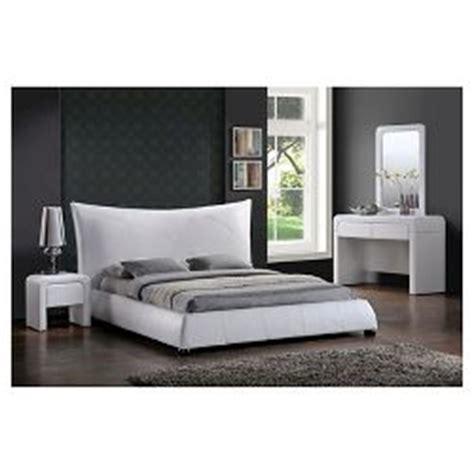 Baxton Studio Jeslyn White Tufted Headboard Modern Bed by Jeslyn Modern Bed With Tufted Headboard White