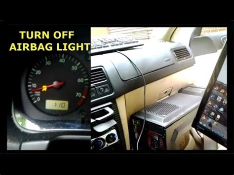 how to turn off airbag light volkswagen airbag light reset how to turn off your airbag