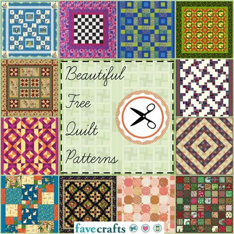 38 Free Quilt Patterns Favecrafts Com How To Use Quilting Templates