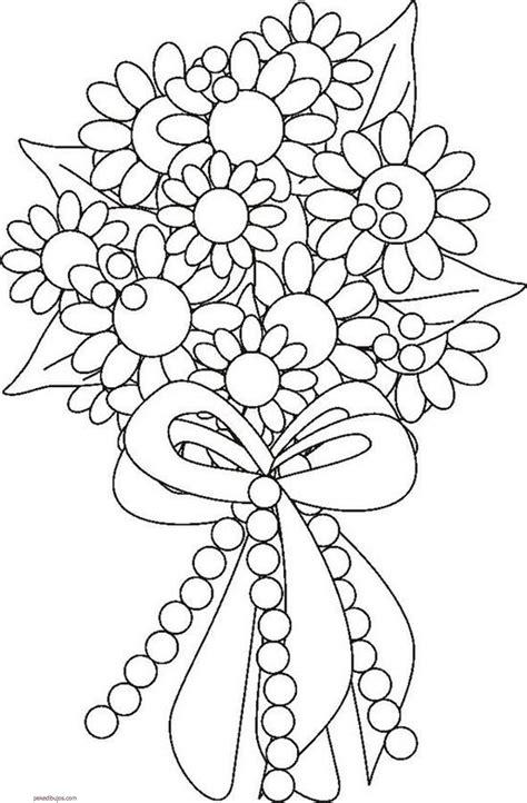 imagenes para colorear flores hermosas dibujos de ramo de flores para colorear