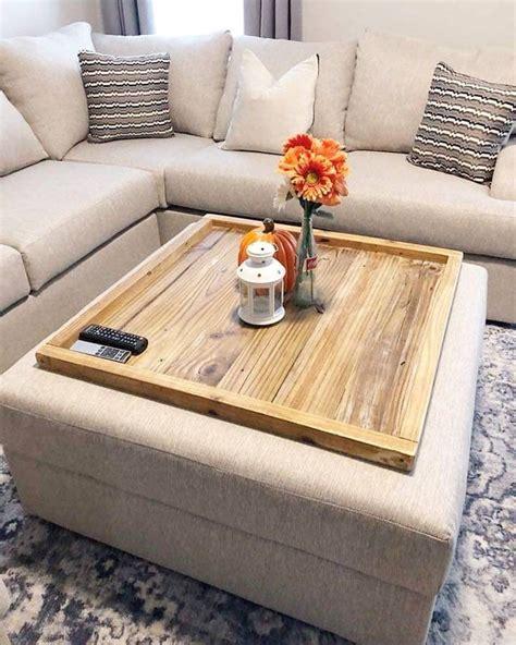 wood ottoman tray oversized ottoman coffee table large