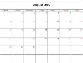 August 2016 calendar printable with holidays pdf and jpg