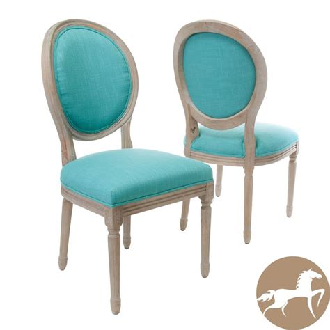 teal color dining room chairs teal fabric dining chairs set of 2 by