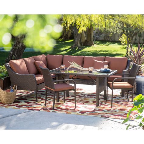 sofa sectional patio dining set belham living all weather wicker sofa sectional
