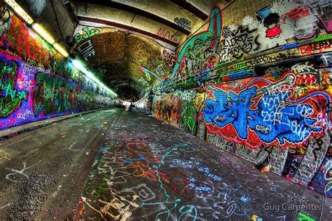 graffiti tunnel london posters  guy carpenter redbubble