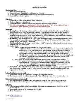 a e biography edgar allan poe worksheet annabel lee worksheet resultinfos