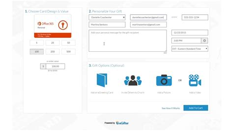 Office 365 Gift Card - how to send microsoft office 365 personal gift cards on vimeo