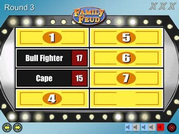 Family Feud Excellent Quality Powerpoint Template Mac Pc By Think Games Powerpoint Templates Family Feud