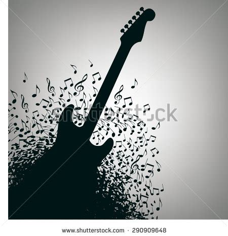 poster design notes grunge guitar stock images royalty free images vectors