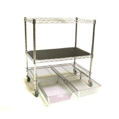 seville classics seville classics heavy duty file cart with storage drawers