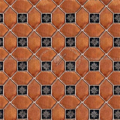 Spanish terracotta rustic tile texture seamless 17130