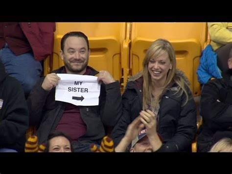 sister bathroom cam gophers kiss cam guy story behind the sign youtube