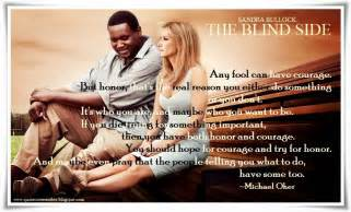 Blind Side Michael Oher Essay Courage theblindside sandrabullock michaeloher