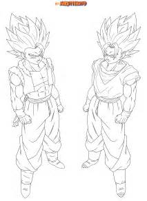 Gogeta And Vegito Coloring Pages Sketch Page sketch template