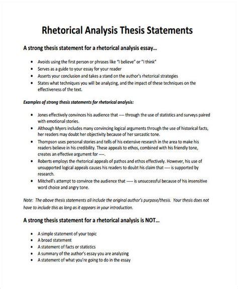 General Statement Essay Exle by Rhetorical Analysis Essay Thesis Statement Docoments Ojazlink