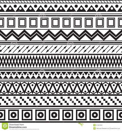 tribal pattern black and white tribal striped seamless pattern stock vector image