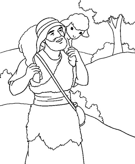 Coloring Page The Lost Sheep | the lost sheep coloring page