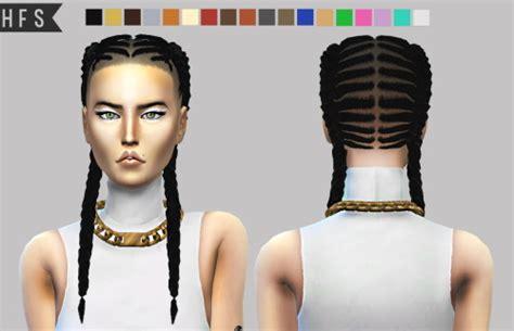 sims 4 hair cc braids sims 4 hairs haut fashion sims braided braids hairstyle